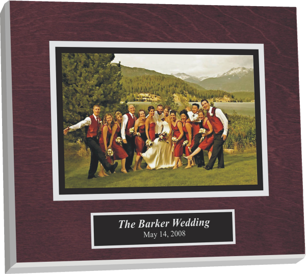wedding invitation plaque