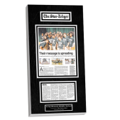 old newspaper articles custom wall plaque