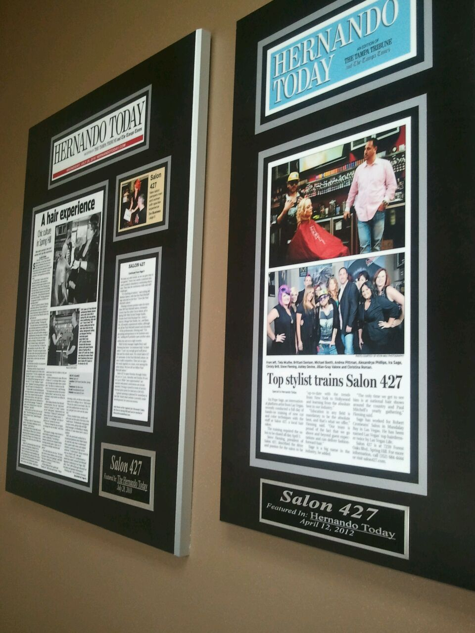 celebrate great news with a custom framed newspaper article plaque