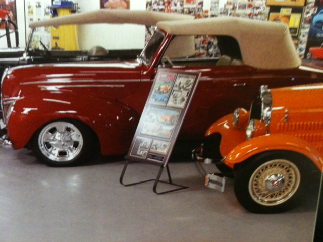 car show display boards, magazine display boards, automotive display boards