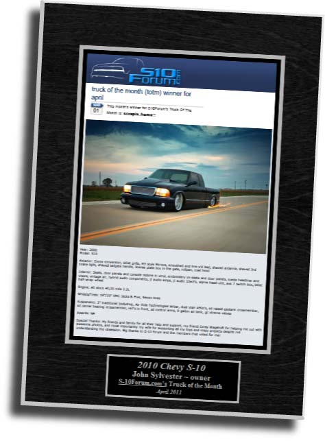Truck of the Month Wall Plaque