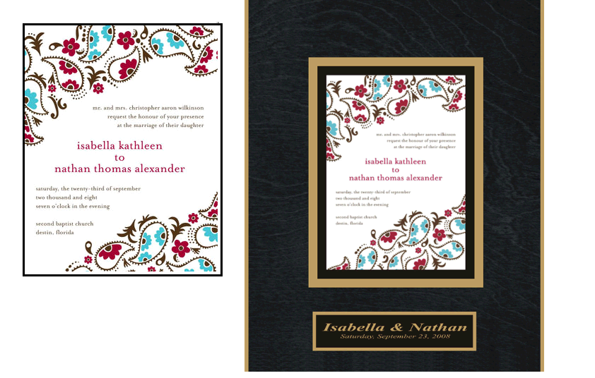 wedding invitations plaque~Before&After