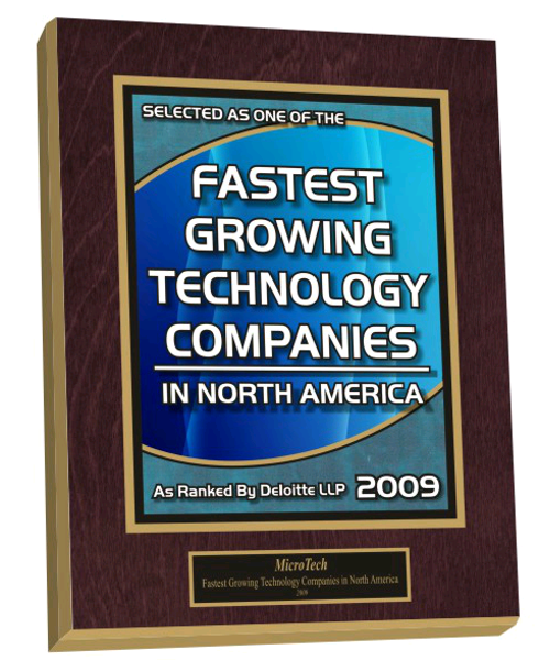 Growing at a fast rate of speed gets you noticed and what better way to acknowledge certain milestones than an recognition plaque.