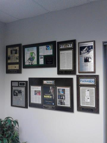 magazine articles mounted on a plaque, magazine articles framed, custom frame magazine articles