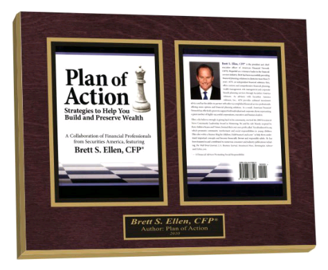A two-page wooden plaque.