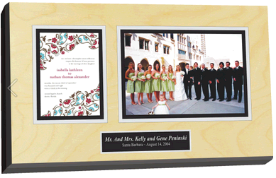 wedding invitation plaques, frame wedding invitations, preserve wedding invitations