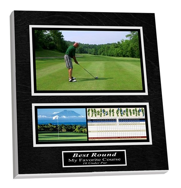 Commemorate playing your best round or your favorite hole of golf on a custom display board!