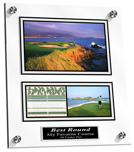 Display your favorite course or best round ever on an acrylic board with your photo! A great Golfers gift!