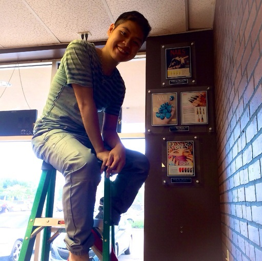 Bryan Vu loves his plaques, and his customers do too.