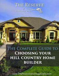 Guide to choosing your home builder texas hill country for How to choose a builder for your house
