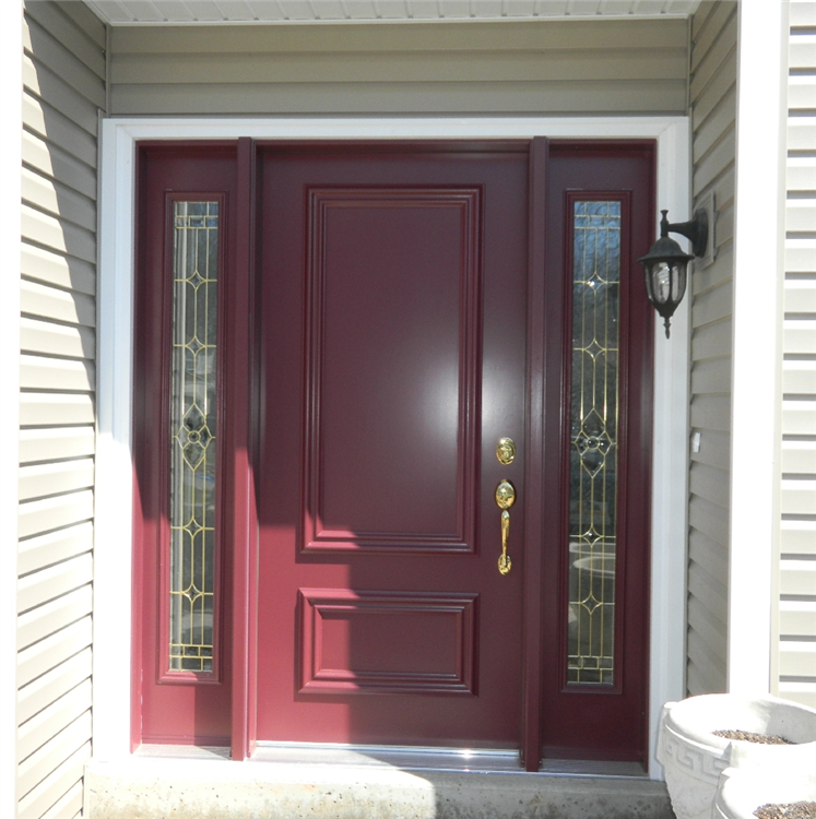 Steel Door With Lead Glass Sidelights Downingtown