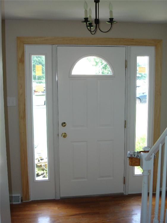 ... full sidelites with half circle window in door ... & Photos of replacement windows in Chester County Pa Pezcame.Com