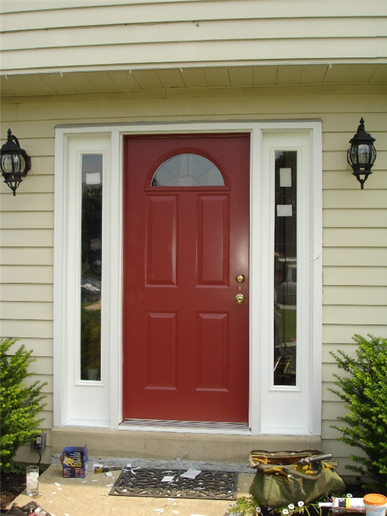 ... half circle window in door and sidelites exterior view ... & Photos of replacement windows in Chester County Pa Pezcame.Com