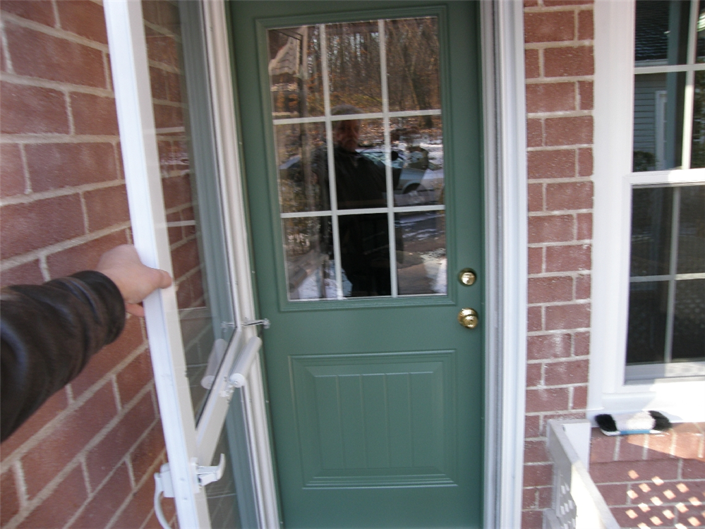 green country door with storm door & Photos of replacement windows in Chester County Pa Pezcame.Com