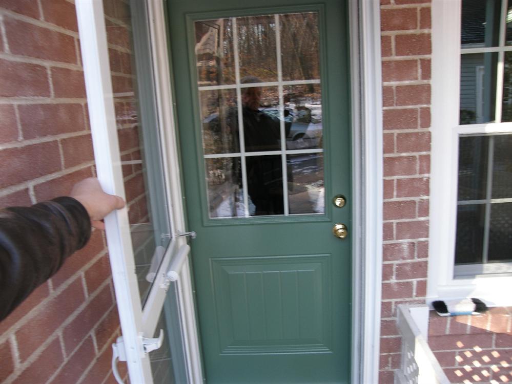 ... Green Country Door With Storm Door ...