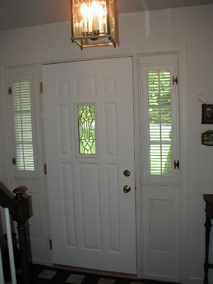 ... 9 Panel Door With Small Leaded Glass Window ...