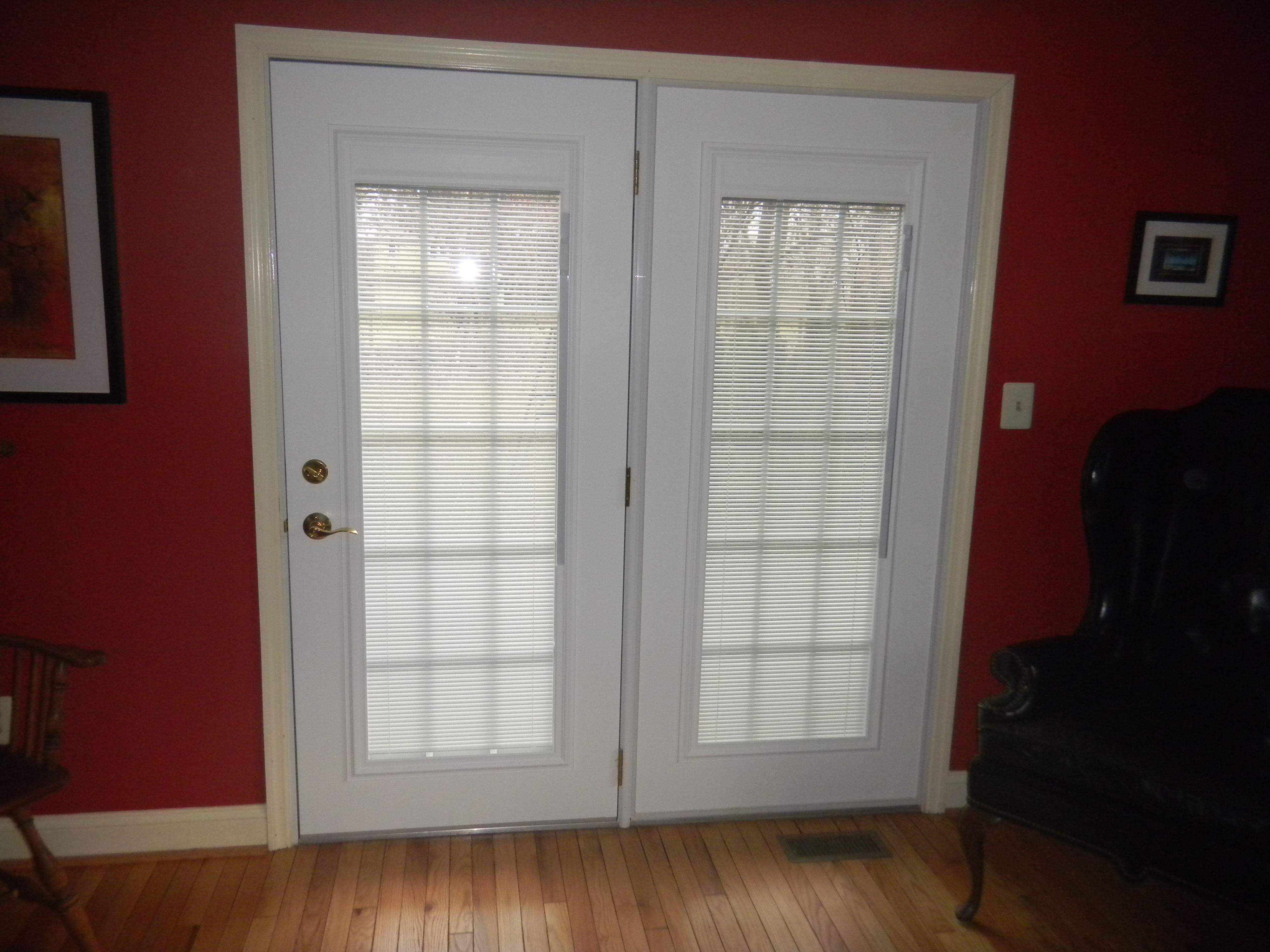 Steel Entry Doors With Blinds Between The Glass Panes - Patio door with blinds inside