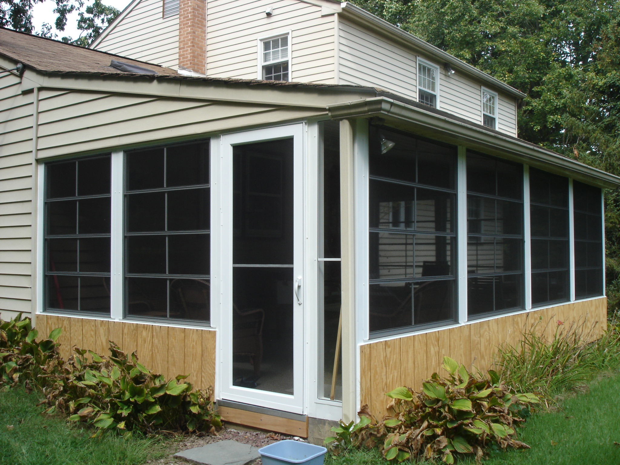 Closed In Patio Rooms PGT EzE Breeze Vertical Four Track .