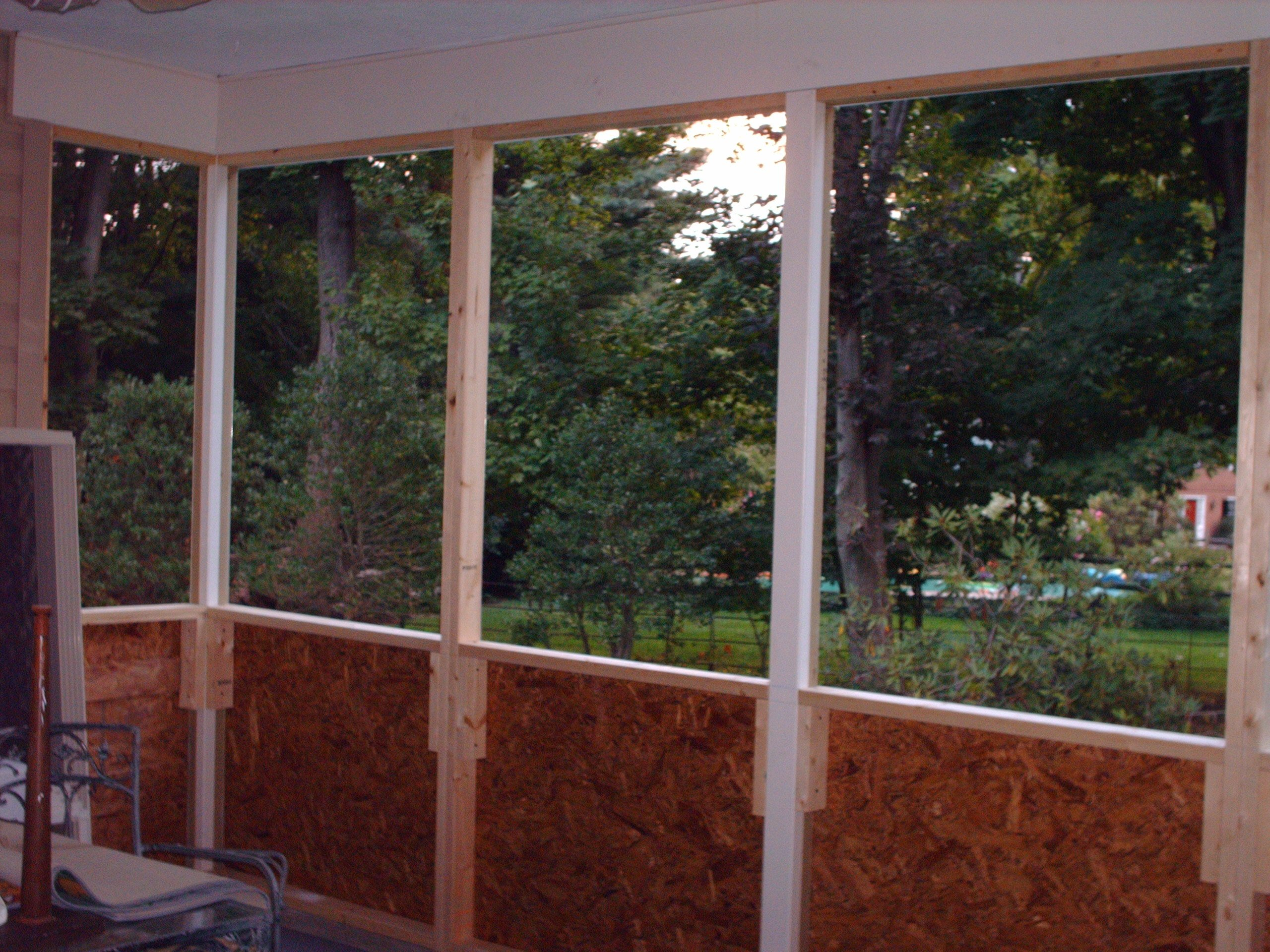 Porch close in bottom of screened porch must do for Screen walls for deck