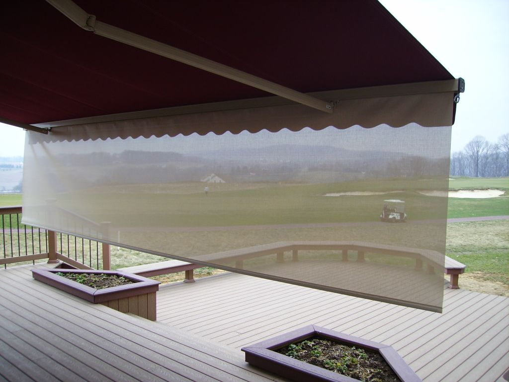 ... View Through Drop Down Sun Valence On Motorized Retractable Awning ...