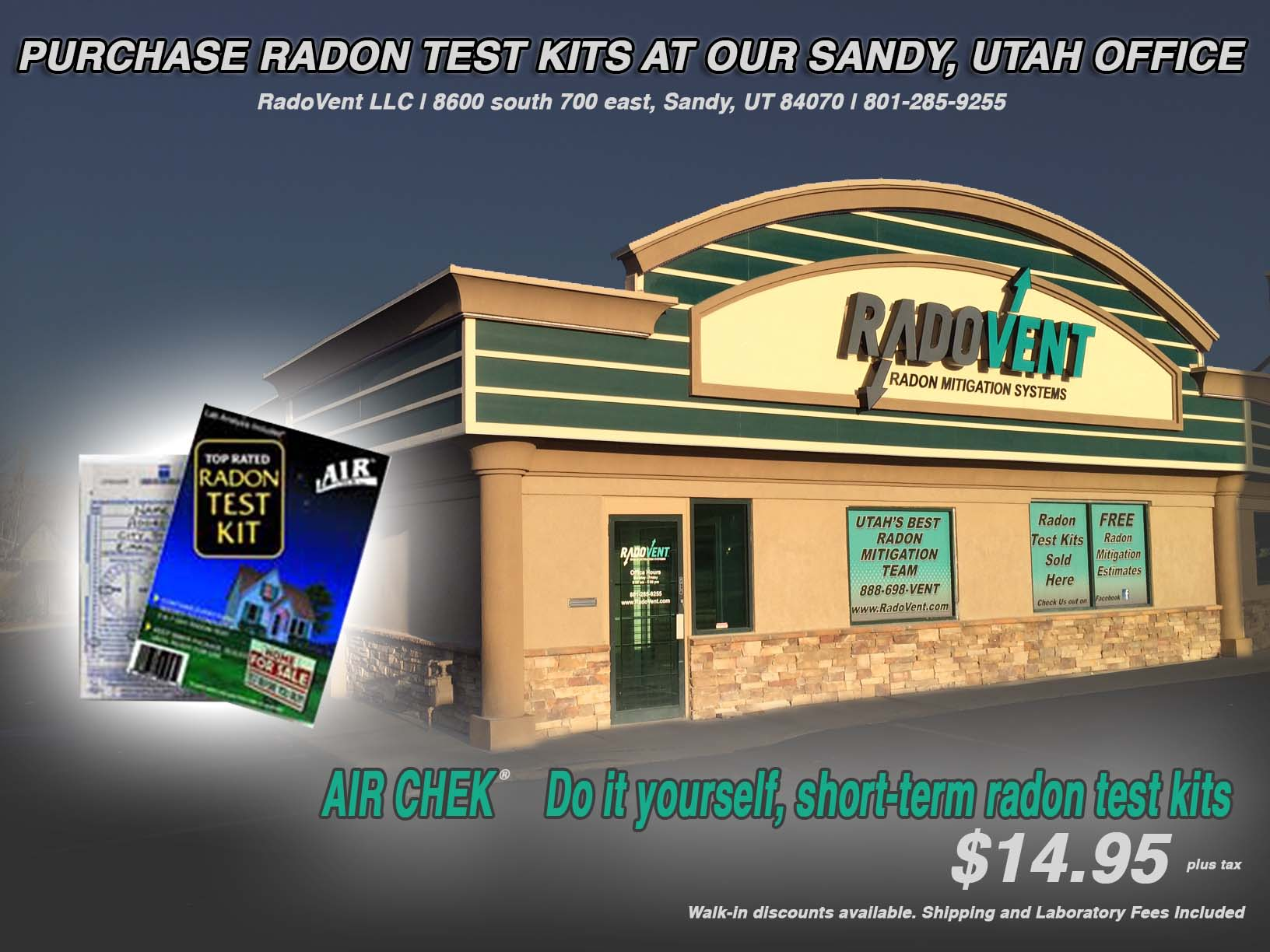 Utah radon mitigation company 1 local radon remediation experts - The office radon test kit ...