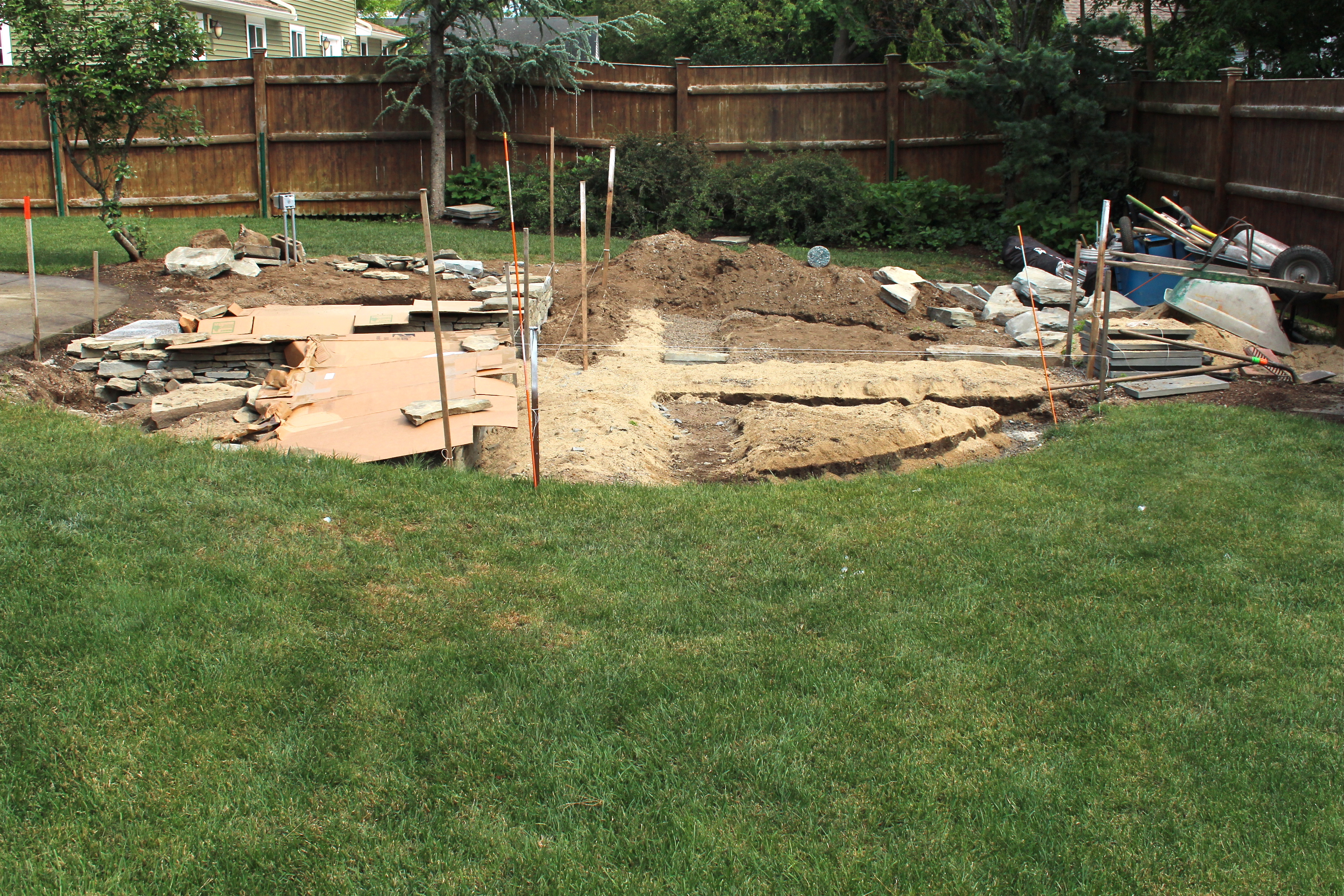 making space beautiful after removing a pool in beverly ma