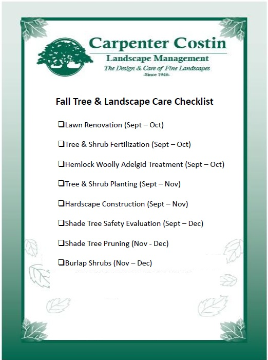 Fall landscape and tree care checklist for Fall yard clean up checklist