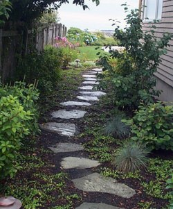 Natural stepping stone walks and paths for Natural stone walkways