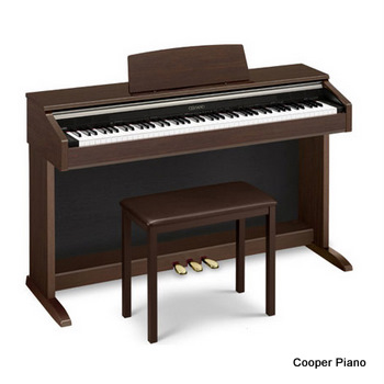 piano on a keyboard