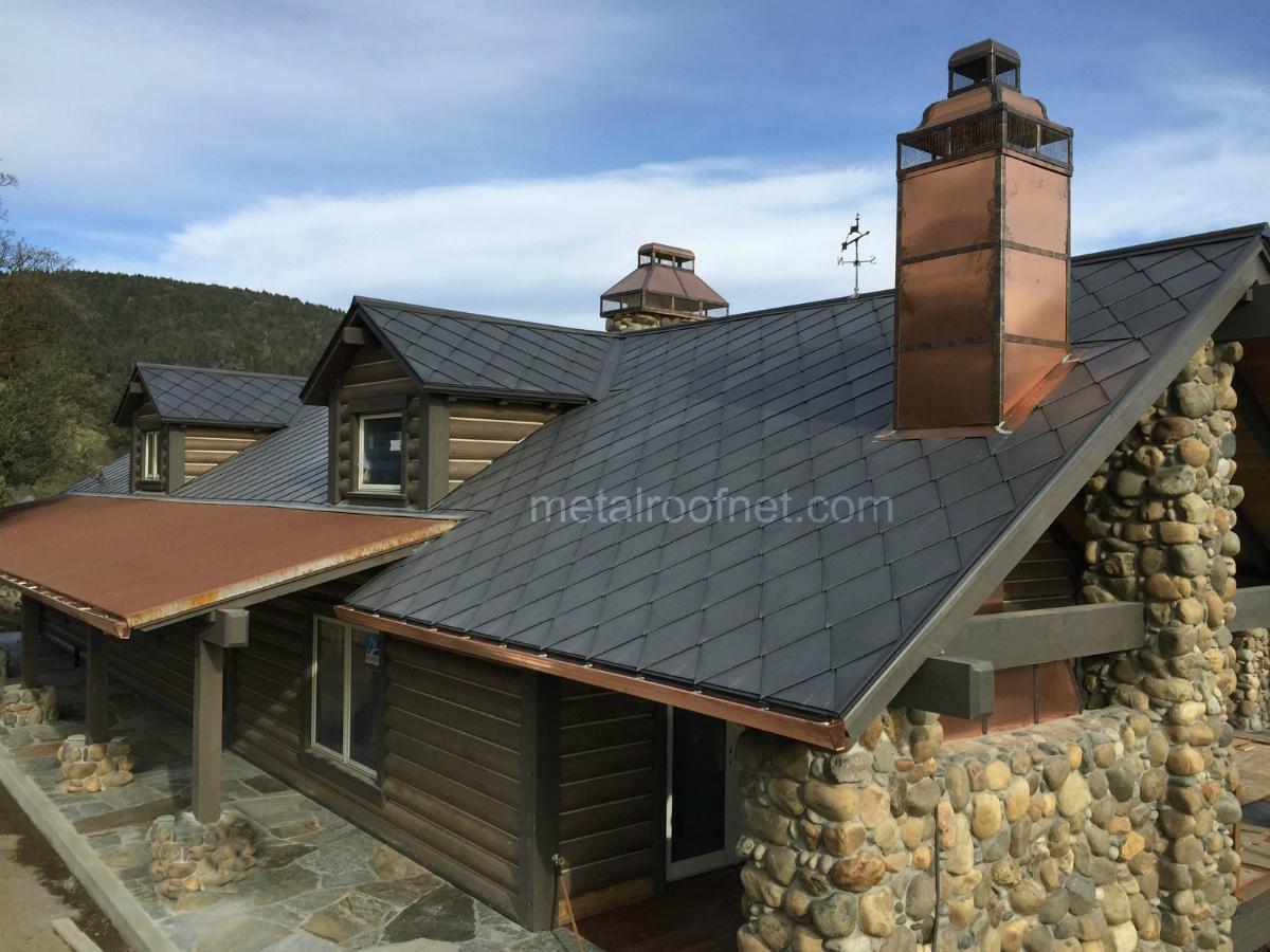 Rustic Roofing Diamond Tiles In Natural Steel