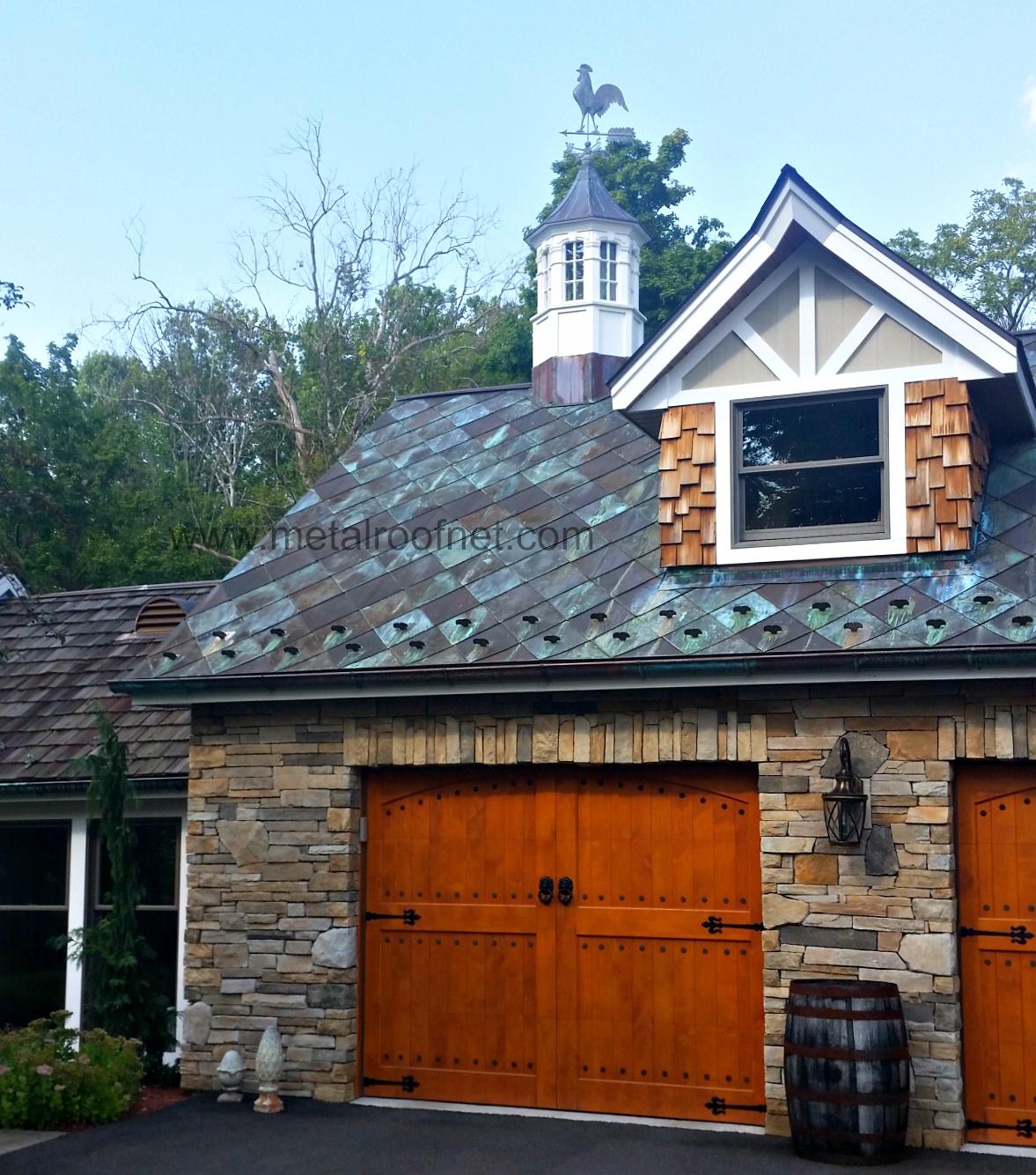 Custom Copper Shingle Roof for A Custom Home