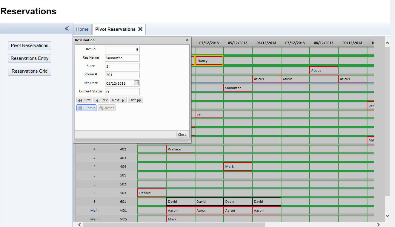pivotGrid Database Software Solution Makes Cross-Tab Data