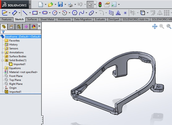 Repair Imported Geometry in SOLIDWORKS