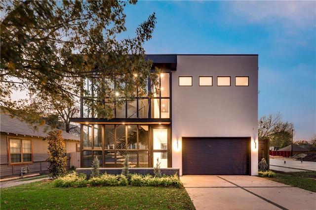 modern windows in east dallas stucco home