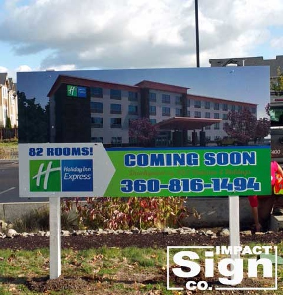 Holiday Inn Express Construction Site Sign