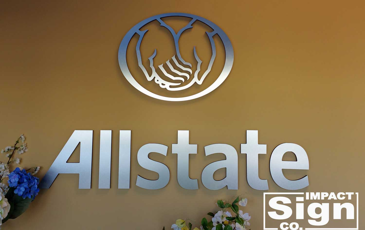 Allstate Lobby Dimensional Sign & Logo