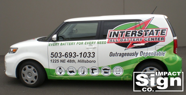 Interstate Batteries Vehicle Graphics