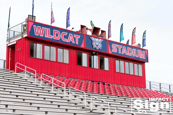 Westview High School Stadium Rebranding Graphics