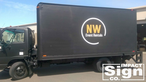 NW Event Rentals Delivery Truck Graphics
