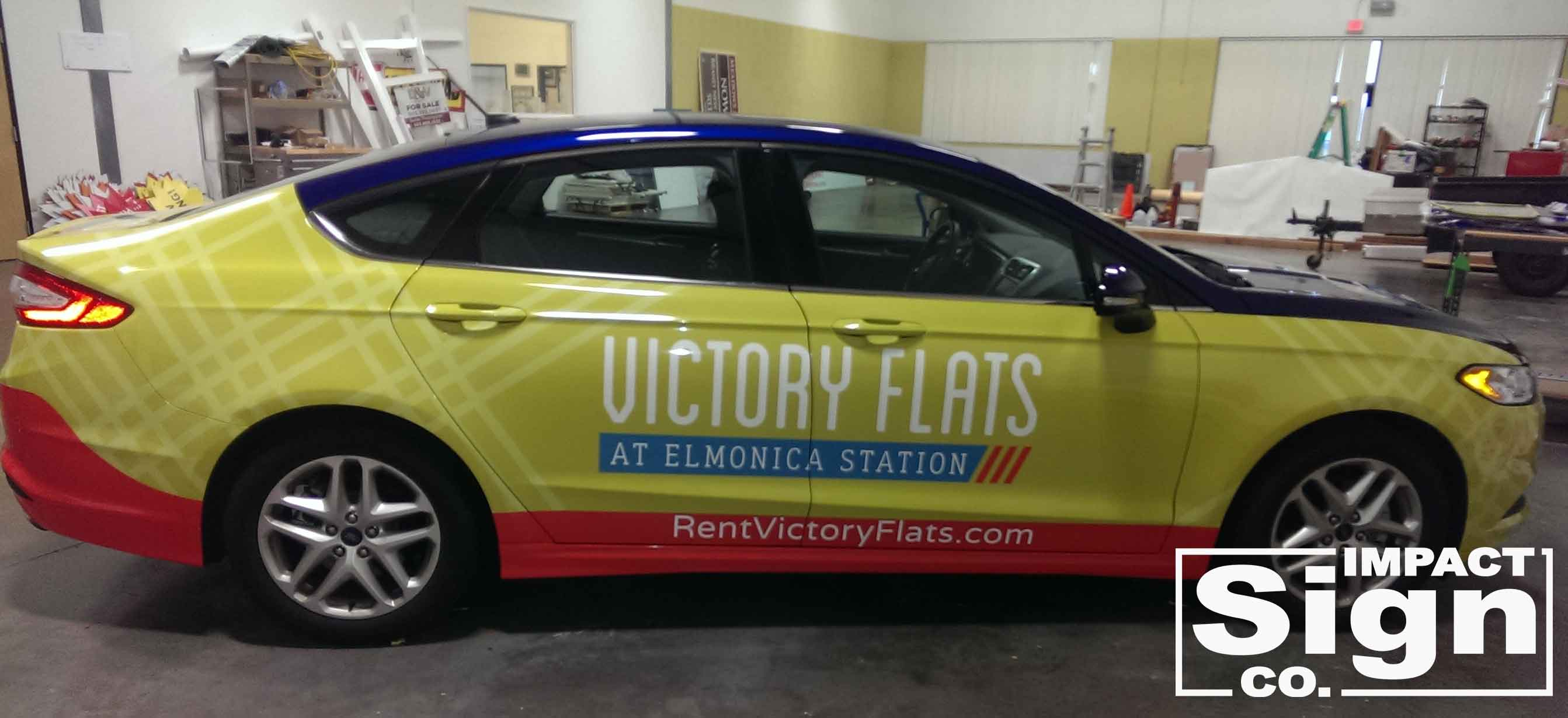 Victory Flats Ford Fusion Vehicle Wrap