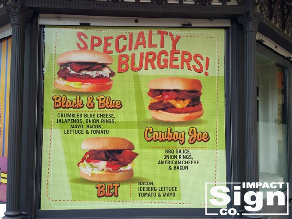 Joe's Burgers Window Graphics