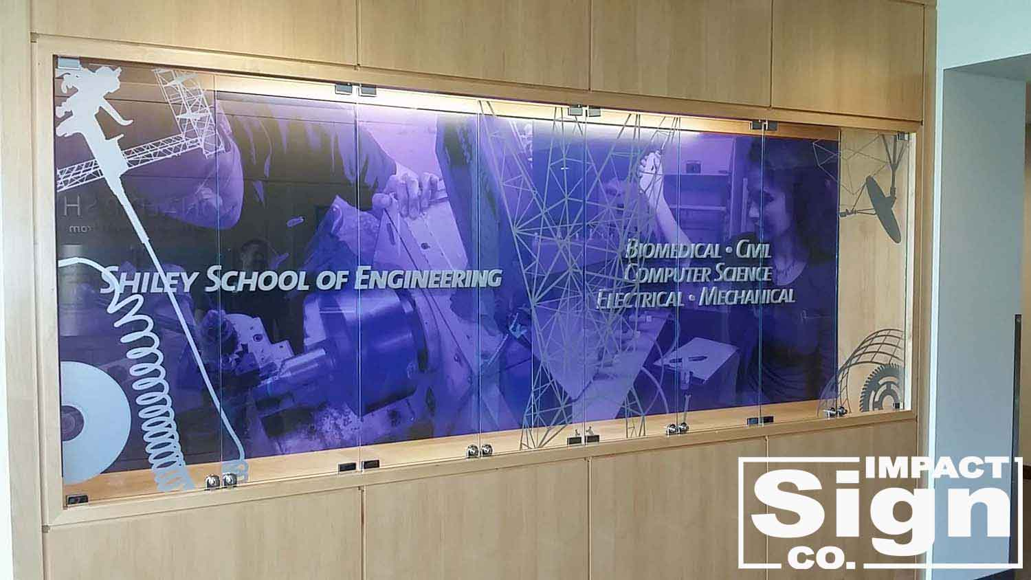 University of Portland Display Case Graphics