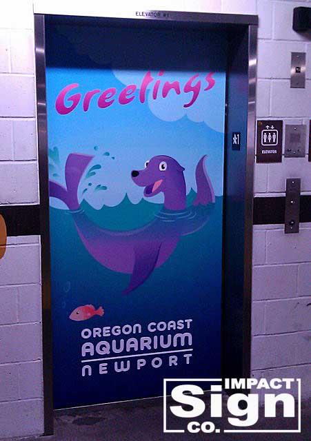 Oregon Coast Aquarium Elevator Graphics