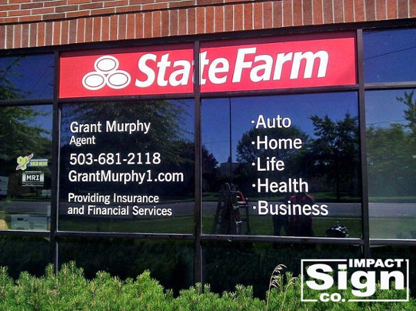 State Farm Window Graphics