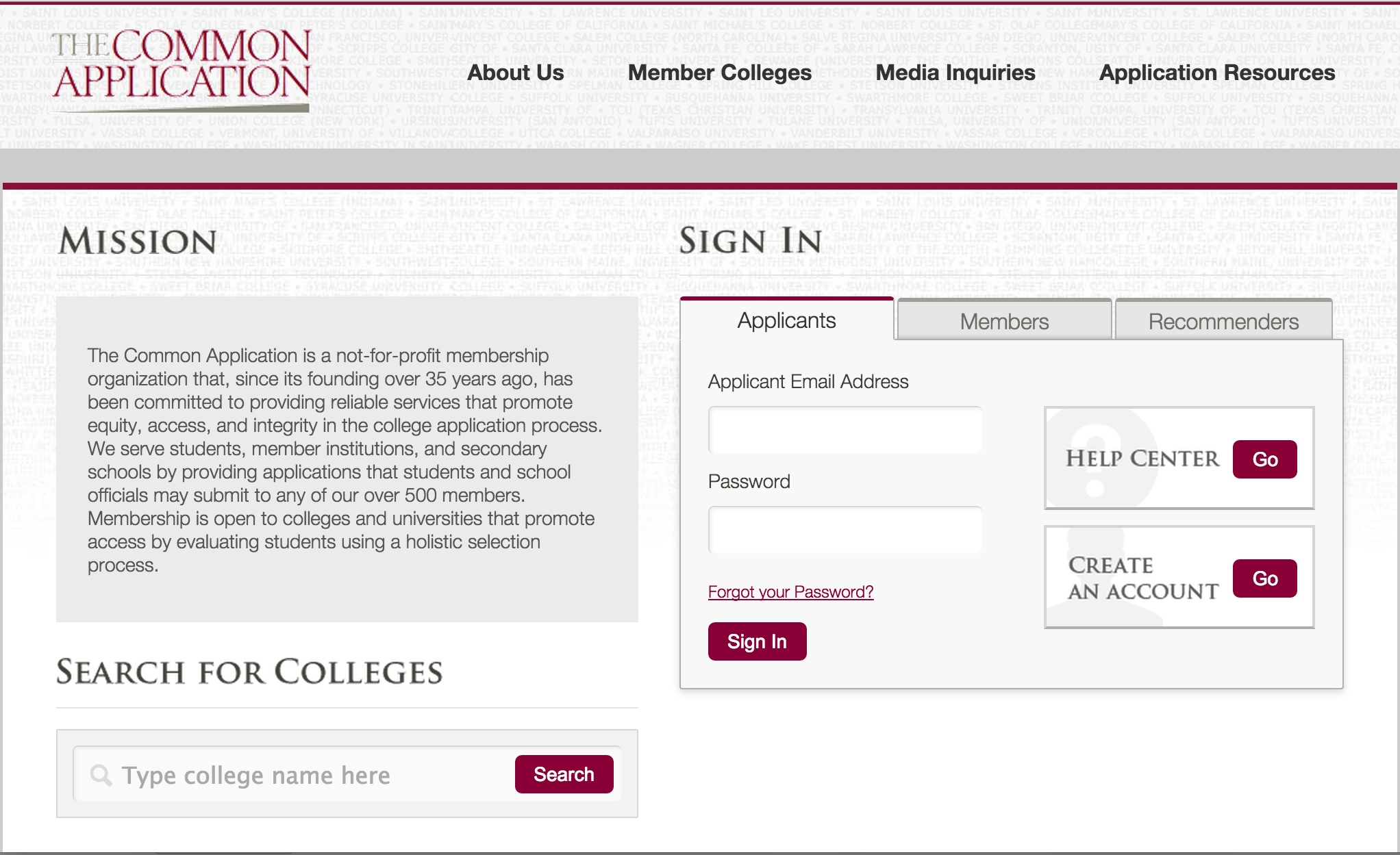 2015 16 common application changes