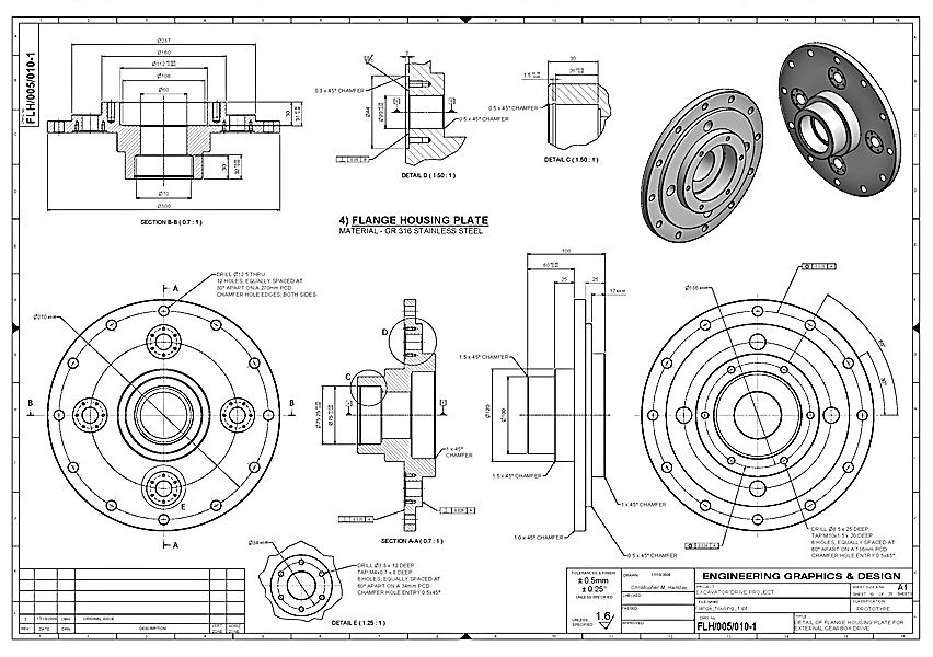 Ford engineering cad drafting standards