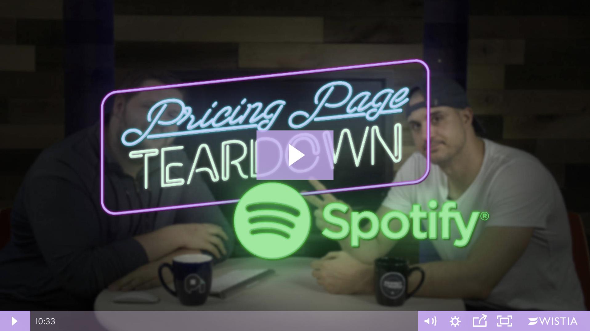 Pricing Page Teardown Episode 3: Spotify BLOG