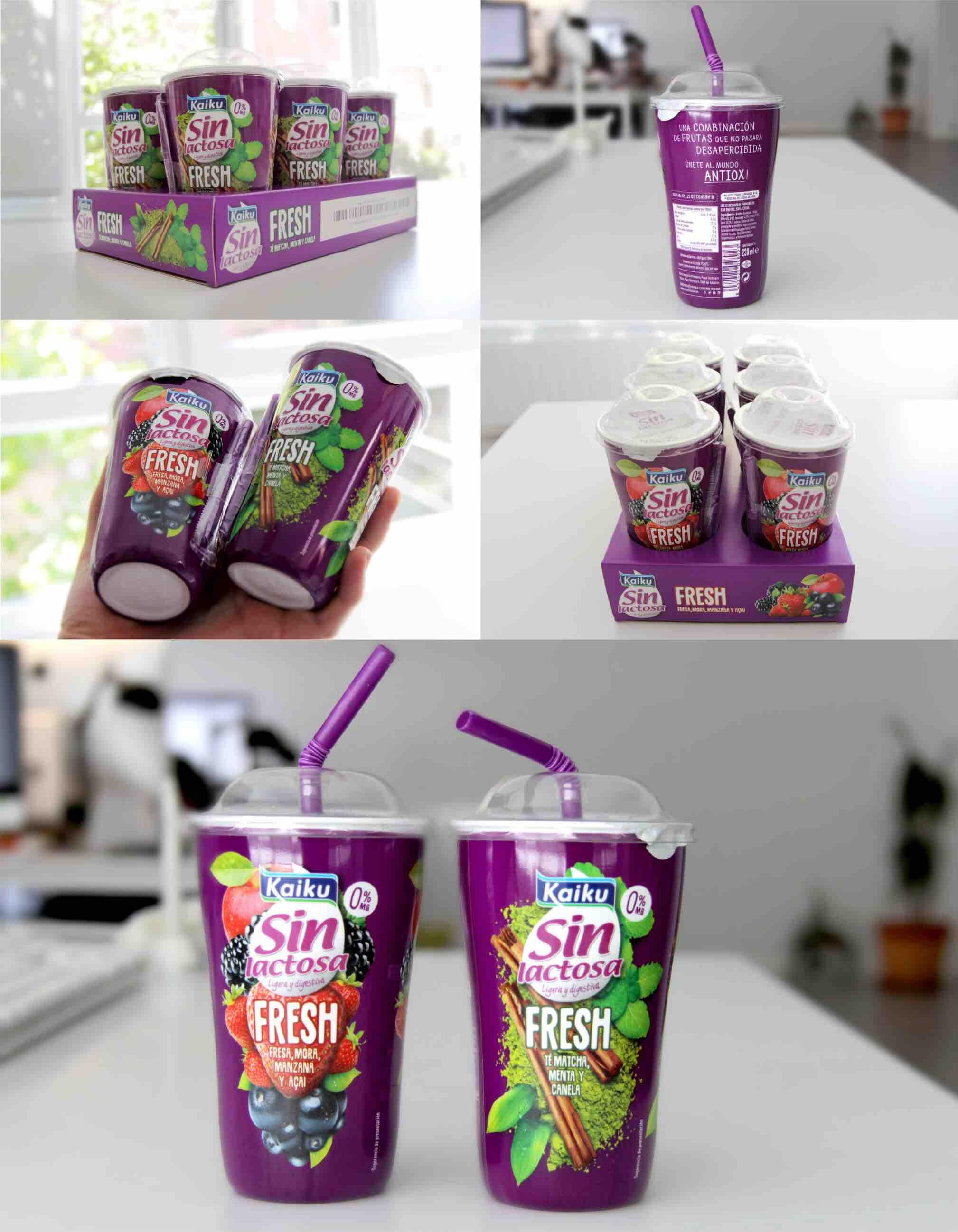 Diseño de packaging de Kaiku FRESH hecho por Sirope