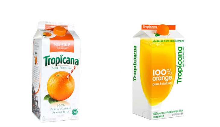 diseño de packaging tropicana
