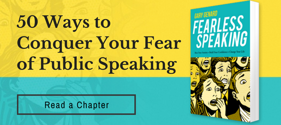 Calm those public speaking nerves with these four tips.